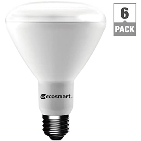 EcoSmart 65W Equivalent Bright White BR30 Dimmable LED Light Bulb 6
