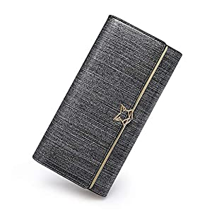 FOXER Women Leather Wallet Trifold Clutch Wallet Purse Ladies Card Holder
