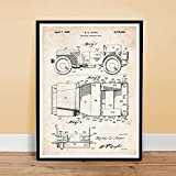 JEEP MILITARY VEHICLE INVENTION 1942 US PATENT ART PRINT JONES WILLYS GIFT UNFRAMED (5