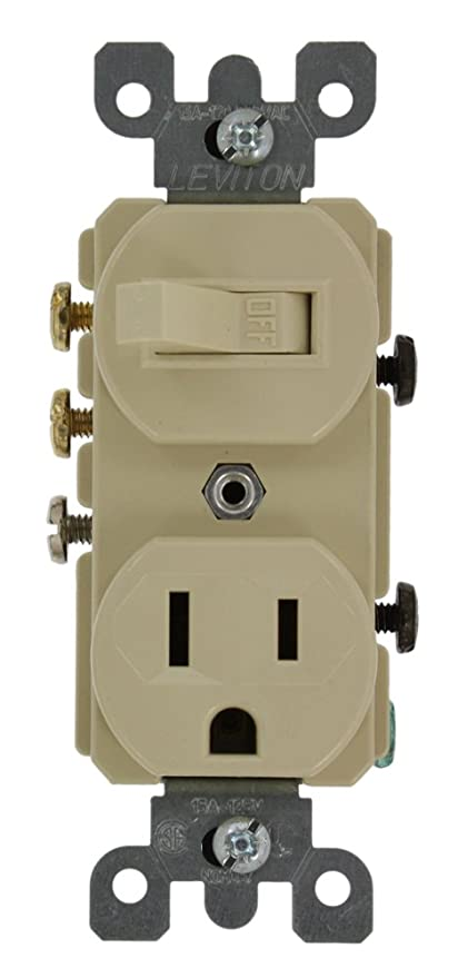 Leviton 5245 15 Amp, 120 Volt, Duplex Style 3-Way AC Combination ...