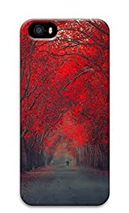 iPhone 5s Cases & Covers - Red Leaf Trees Custom PC Soft Case Cover Protector for iPhone 5s