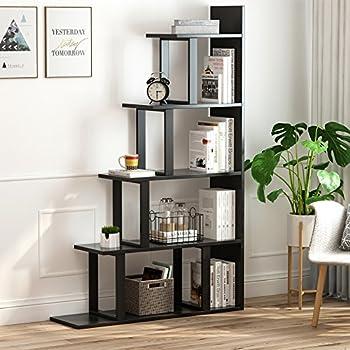 Amazon.com: Tribesigns 5-Shelf Ladder Corner Bookshelf, Modern ...