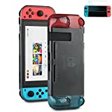 [ Nintendo Switch Protective Case With Screen Protector ] Shock Absorbing Rubberized Case For Nintendo Switch [ Screen Protector Included ]