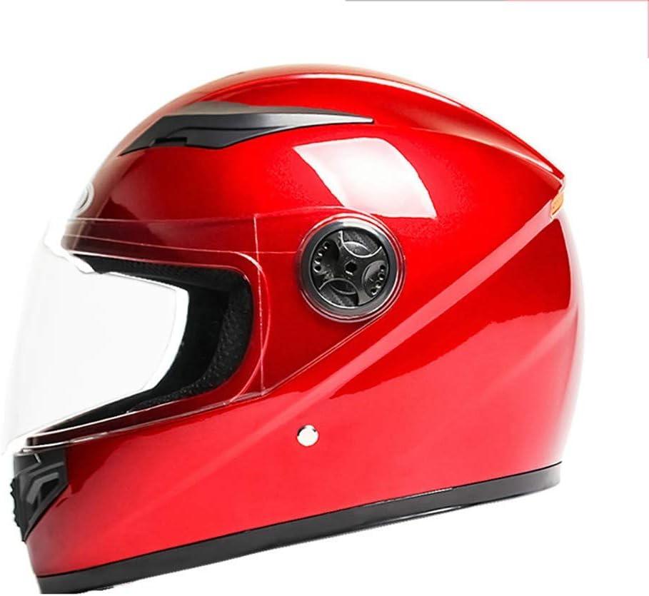 DYOYO Casco de Moto Babero Extraíble Carcasa Sólida ABS Gafas HD Antivaho y Antideslumbrante Ventilación Respirable La Seguridad Forro Protector Suave para Unisex Adultos(58-60cm)