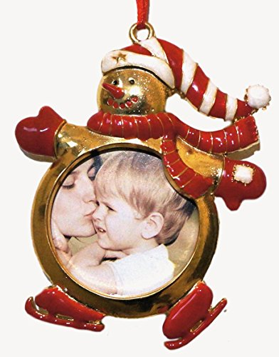 Christmas Snowman Pictures (Photo Ornament - Snowman Christmas Ornament - Holiday Picture Ornament - Grandparent Gift, Teacher Gift)
