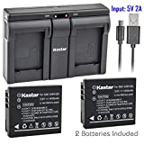 Kastar 2x Battery + USB Dual Charger for Samsung IA-BH125C Ricoh DB-65...