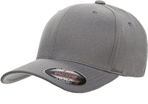 6477 Flexfit Wool Blend Cap - Large/X-Large (Gray) (Wool Pro Blend Cap)