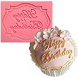 Anyana Silicone Fondant Happy Birthday Mould Cake Decorating Tool Chocolate Sugar Craft mold 307a