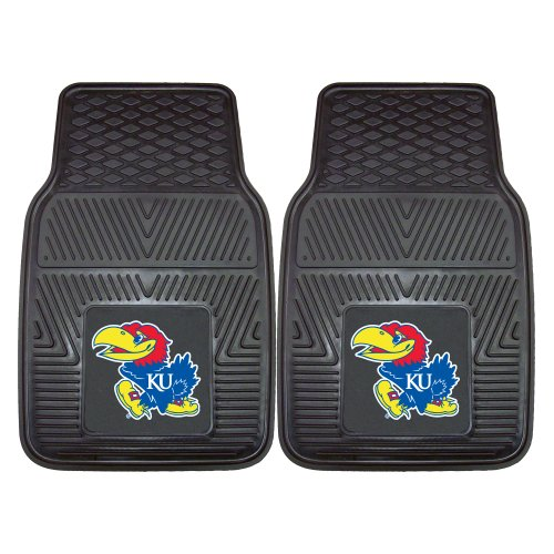 FANMATS NCAA University of Kansas Jayhawks Vinyl Heavy Duty Car Mat