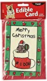 Crunchkins Crunch Edible Card, Merry Christmas No.1 Dog