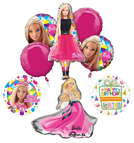 Barbie Birthday Party Supplies and Balloon Bouquet Decorations Barbie Sparkle and ()