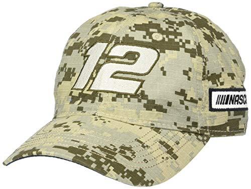 NASCAR Penske Racing Ryan Blaney Mens Digital Camo CapDigital Camo Cap, Digital Grey/Sand, Adjustable