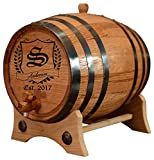(5 Liters) Personalized - Vintage Customized American White Oak Aging Barrel - Barrel Aged