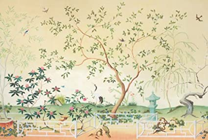 Oriental Garden Full Size Wallpaper Mural Amazon Co Uk Diy Tools