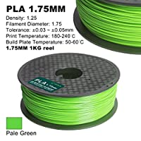 Century 3D PLA-1KG 1.75-Pale Green PLA 3D Printer Filament, Dimensional Accuracy +/- 0.05 mm, 1 kg Spool, 1.75 mm, Pale Green from Century Products