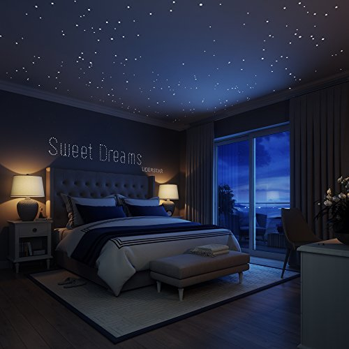 Glow-In-The-Dark-Stars-Wall-Stickers252-Adhesive-Dots-and-Moon-for-Starry-Sky-Perfect-For-Kids-Bedding-Room-or-Birthday-Gift-Beautiful-Wall-Decals-by-LIDERSTAR-Delight-The-One-You-Love