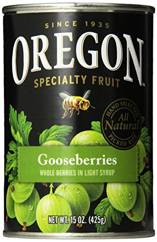 Oregon Fruit Gooseberries, Light Syrup, 15 oz (Pack of 8)