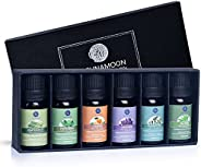 Lagunamoon Essential Oils Top 6 Gift Set  Pure Essential Oils for Diffuser, Humidifier, Massage, Aromatherapy,