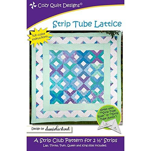 Cozy Quilt Designs CQD01221 Strip Tube Lattice Pattern - Lattice Quilt Pattern