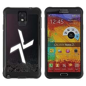 Be-Star único patrón Impacto Shock - Absorción y Anti-Arañazos Funda Carcasa Case Bumper Para SAMSUNG Galaxy Note 3 III / N9000 / N9005 ( Abstract X )