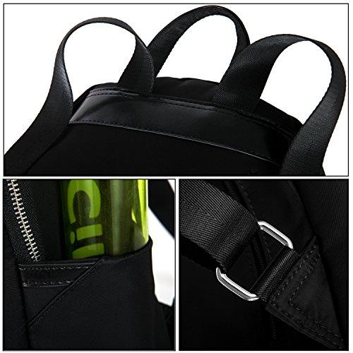 Mochila ligera escolar las Tibes mochila 1 mujeres para impermeable Negro tgdwgq