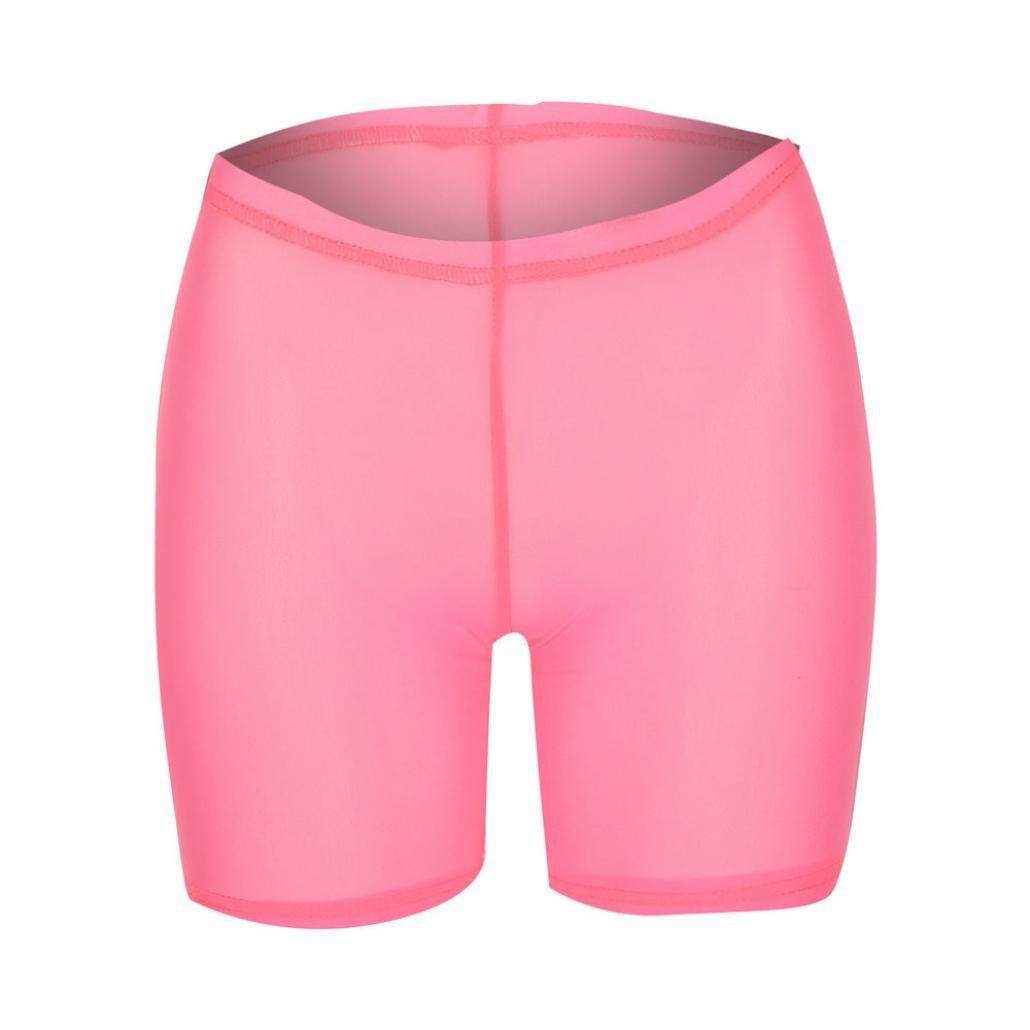 Winkey Femme pour homme femme solide Taille /élastique Semi-perm/éable en maille Short Pantalon maillots de bain