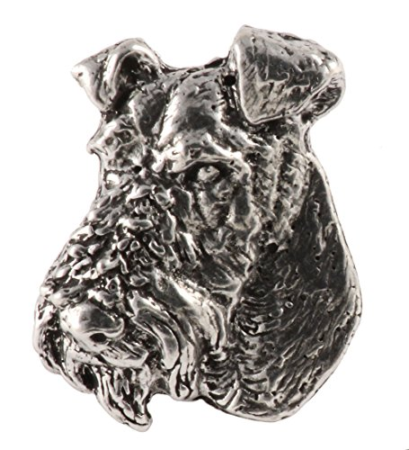 Wire Fox Terrier Dog Pewter Lapel Pin, Brooch, Jewelry, D184