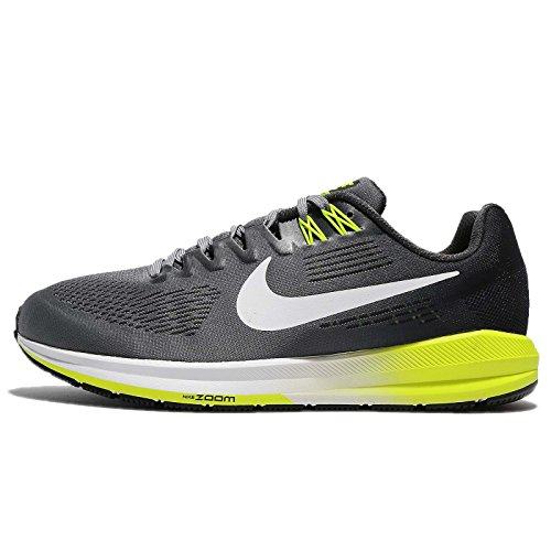 NIKE Mens Air Zoom Structure 21 Running Shoe Wide (2E) Cool Grey/White-Anthracite-Volt Cool Grey/White-anthracite-volt GFNWkGbFT