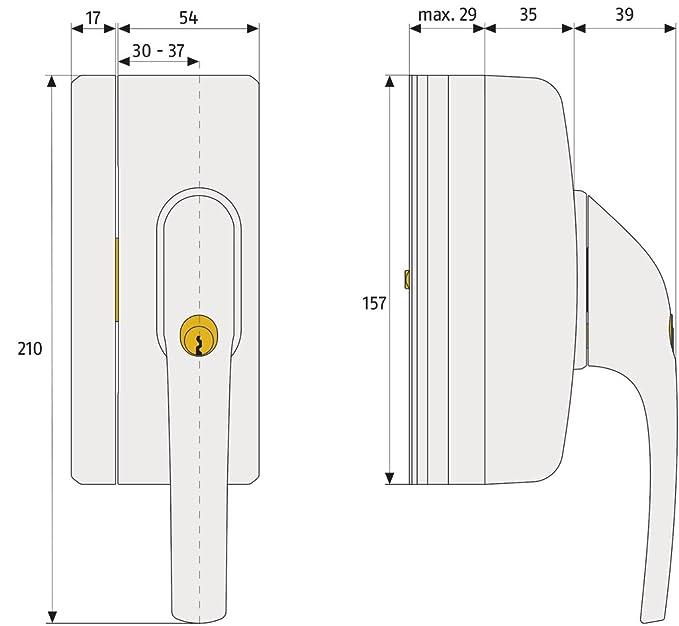 Reidl Sicherungsringe f/ür Bohrungen 50 x 2 mm DIN 472 Stahl blank 10 St/ück