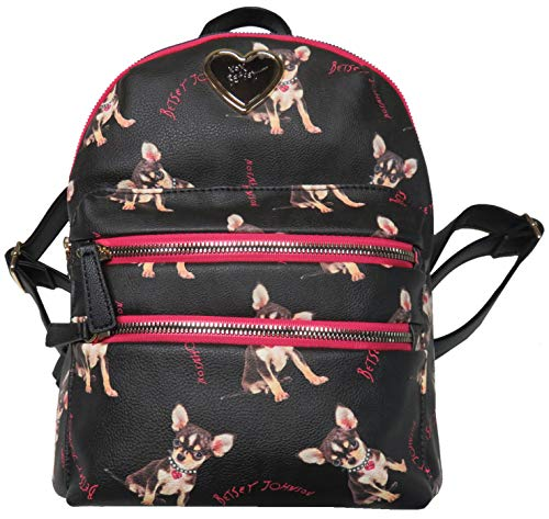 Betsey Johnson Puppy Dog Backpack Black Multi