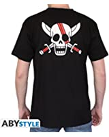 ONE PIECE - Tshirt Shanks Skull homme MC black - basic