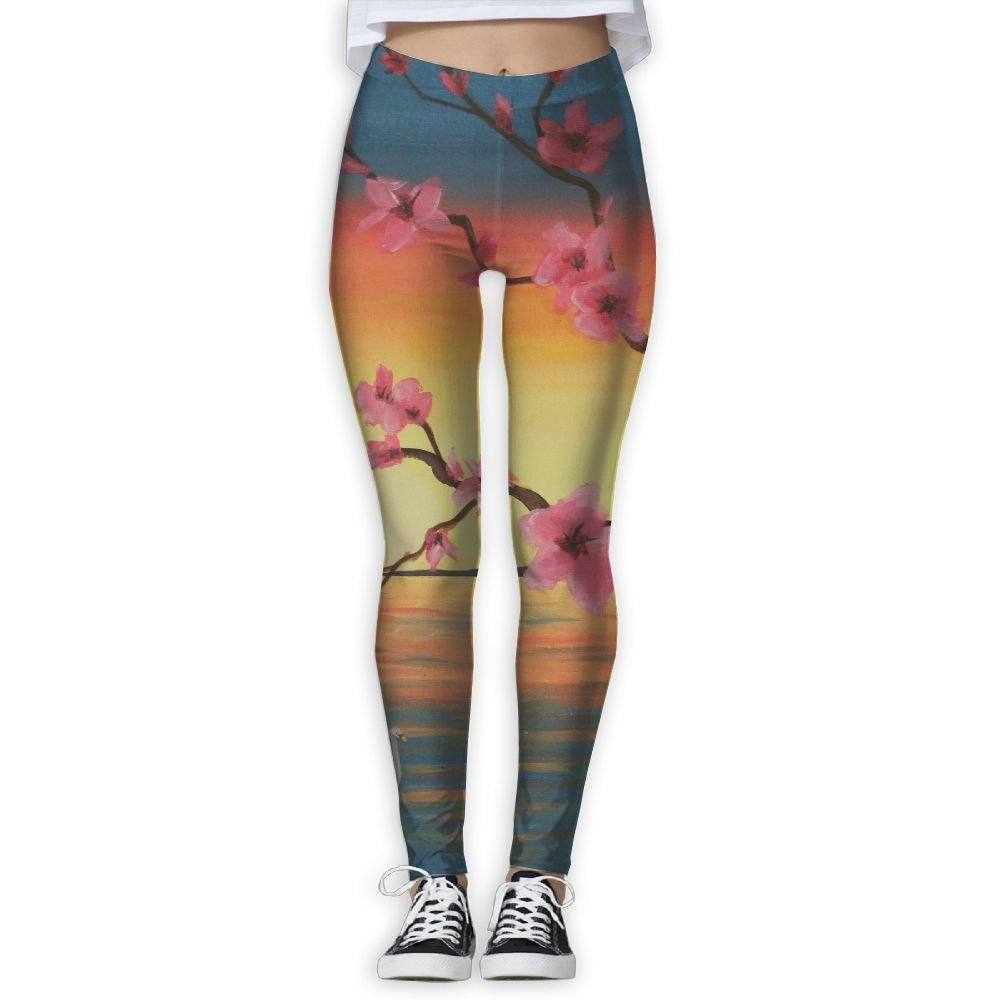 Homlife Peach Blossom Tree Love 3D Printing Yoga Leggings ...