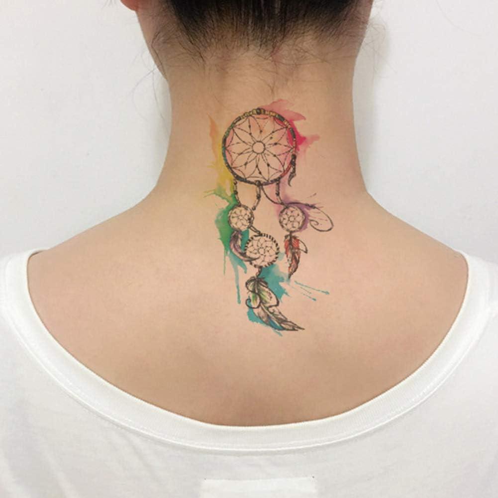 Oottati 2 Hojas Pequeño Lindo Tatuaje Temporal Tattoo Color ...