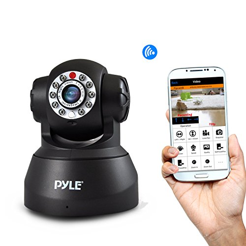 Indoor Wireless Home Security Surveillance IP Camera with PTZ, Motion Detection and Night Vision - Connect Wifi...