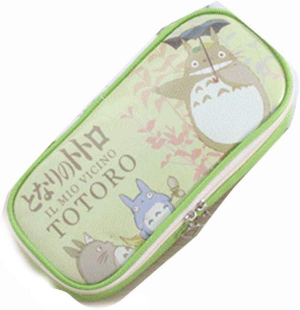Estuche de lápices de gran capacidad de dibujos animados creativo lindo Totoro Pen Box organizador de escritorio con cremallera para la escuela y suministros de oficina Estuche de lápices bolsa de almacenamiento,