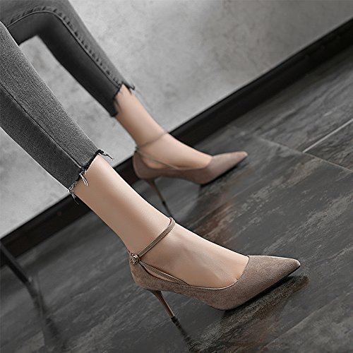 A 8Cm Lady Shoes Leisure Sexy Match 35 High Spring Khaki Occupation Elegant All Shoes With MDRW Heels Work Fine qX8FCwwn