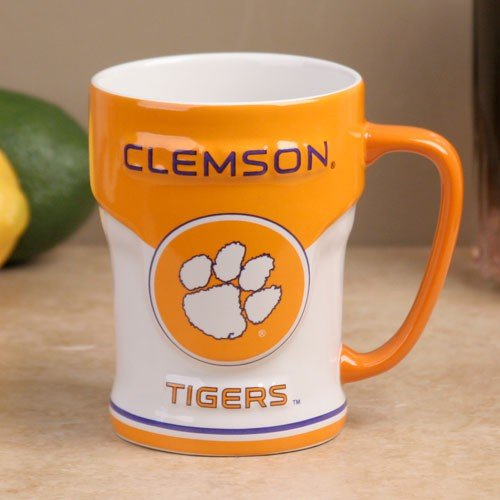 (Clemson Tigers 12oz Sculpted Varsity Mug)