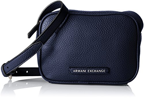 A|X Armani Exchange Camera Crossbody,Evening Blue,One - Woman Armani