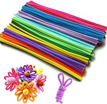 50 X Kinder Gemischte Farben Glitzer Pl/üsch Pfeifenreiniger Stiele Kunst Basteln 12  30cm
