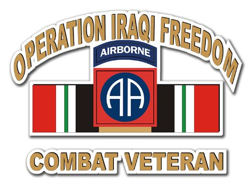 82nd Airborne Iraq Combat Veteran Operation Iraqi Freedom OIF Decal Sticker 3.8