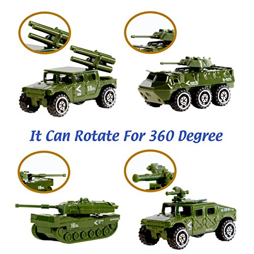 Military Vehicle Toys For Boys : Die cast military vehicles pack assorted alloy metal