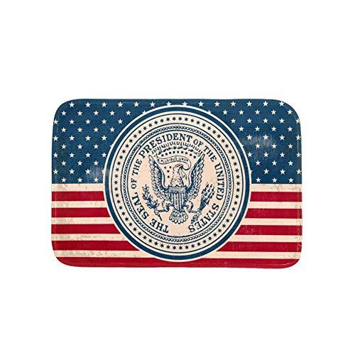 (Lilibeely Decorative Doormats Entrance Front Door Rug Felt Floor Mat Vintage Presidential Seal Print with Non-Skid Backing,Fit for Home Indoor, Super Absorbent Mats 23.6