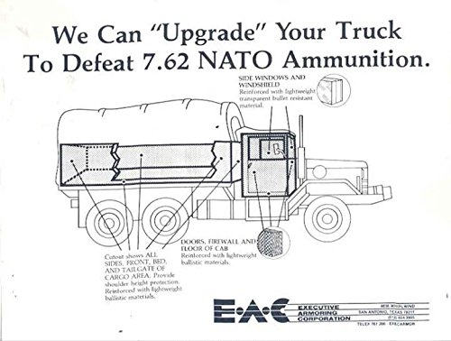 1987 EAC NATO Armored Army Truck Sales Brochure (Army Sales Truck)