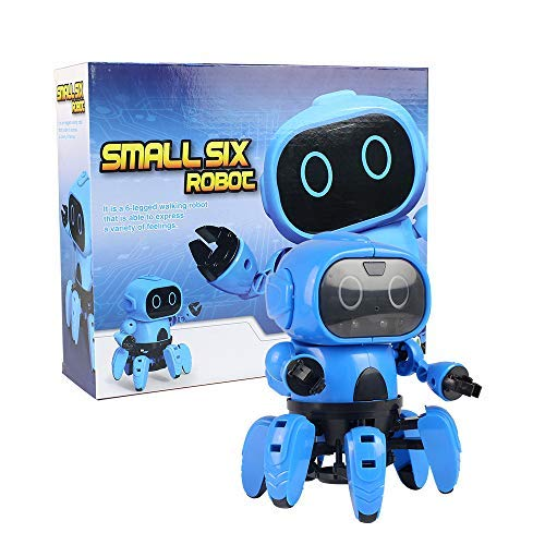 Robot Toy, Robot kits for Boys Gift DIY Robot Assemble Toy Building Sets, Science Educational Electric Toys Intelligent Kits for Tees Kids Gift, Smart Tracking Senses Gesture Control Walking Smart Int -