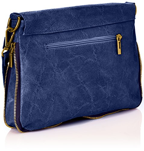 Bags Women's body Marina Coquelicot Cuir Blue Cross Indigo Rossini vqfvEwnHX