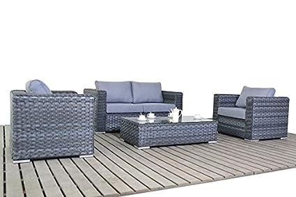 Moderno pequeño gris ratán jardín juego de sofá, sofá de 2 ...