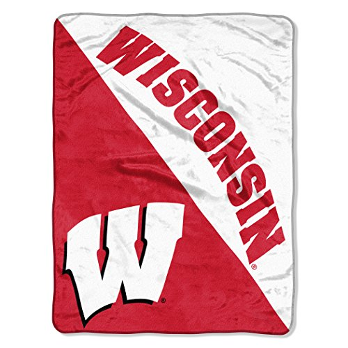 The Northwest Company Officially Licensed NCAA Wisconsin Badgers Halftone Micro Raschel Throw Blanket, 46