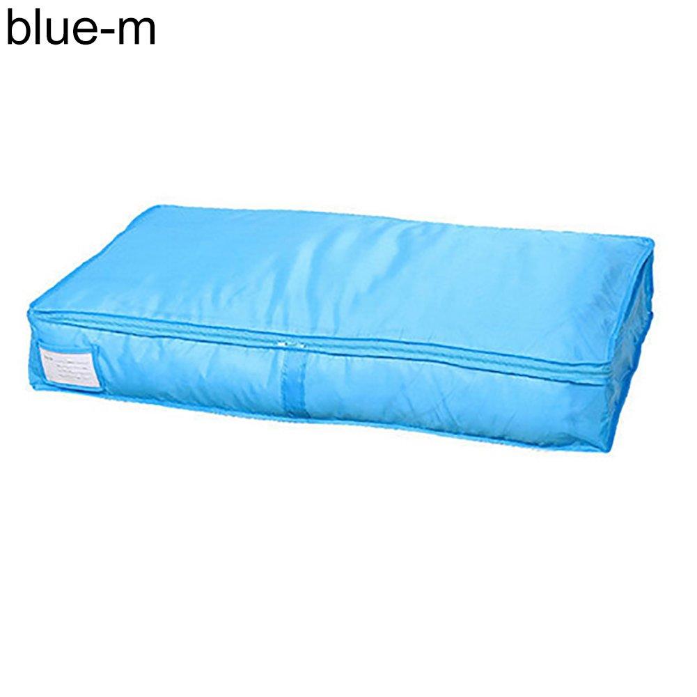 yanbirdfx Portable Storage Bag Clothes Blanket Quilt Closet Pillows Organizer Box Pouch Rose Red M