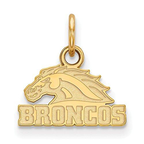 (10k Yellow Gold Western Michigan University Broncos Mascot Head Pendant XS - (10 mm x 12)