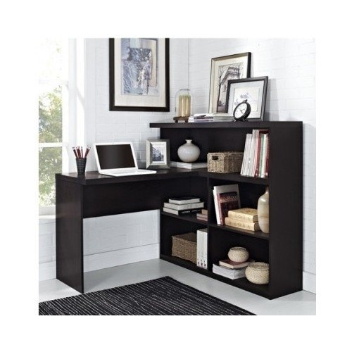 L Shaped Desk Wood Black for Your Home Office. A Great Home